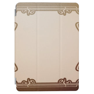 Protection iPad Air nouveau d'art, beige, brun, antiquité, époque de