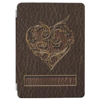 Protection iPad Air Obscurité simili cuir de coeur