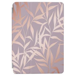 Protection iPad Air or rose, Asiatique, feuille, motif, arbres en