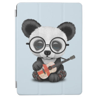 Protection iPad Air Panda de bébé jouant la guitare anglaise de