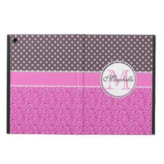 Protection iPad Air Parties scintillantes roses et pois rose sur le