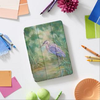 "Protection iPad Air Peinture en pastel de héron bleu de ""solitude"" -"