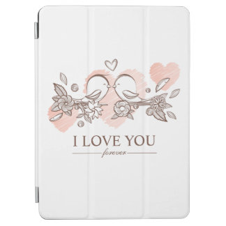 Protection iPad Air Perruches adorables dans le cas d'air de l'amour |