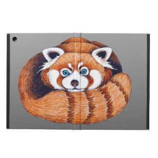 Protection iPad Air Petit panda rouge sur le gris