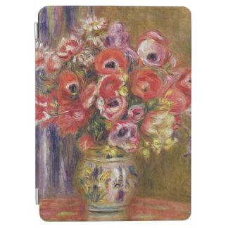 Protection iPad Air Pierre un vase à Renoir | de tulipes et d'anémones