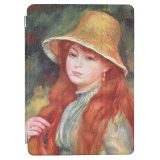 Protection iPad Air Pierre une jeune fille de Renoir | dans un chapeau