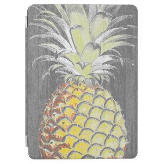 Protection iPad Air Pinneapple jaune tropical sur le gris