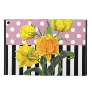 Protection iPad Air point de polka jaune de tulipe