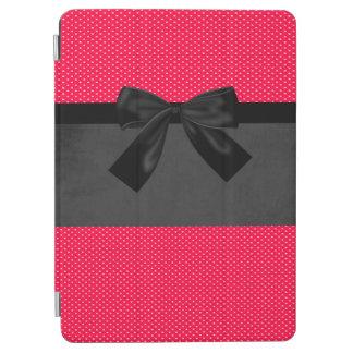 Protection iPad Air Pois rouge élégant Girly mignon - arc noir