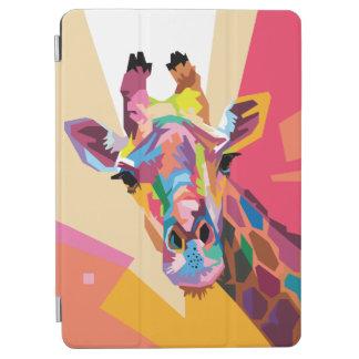 Protection iPad Air Portrait coloré de girafe d'art de bruit