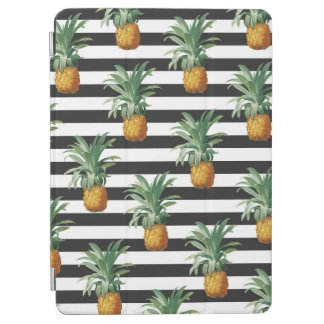 Protection iPad Air rayures d'ananas grises