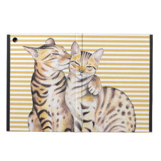 Protection iPad Air Rayures d'ocre de chats du Bengale