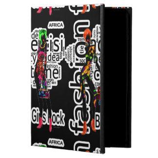 Protection iPad Air Roche noire de filles