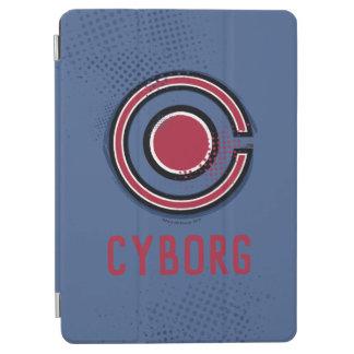 Protection iPad Air Symbole de cyborg de brosse et d'image tramée de