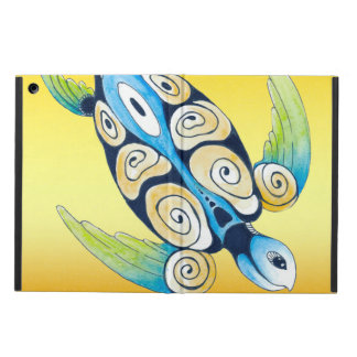 Protection iPad Air Tortue de mer sur le jaune
