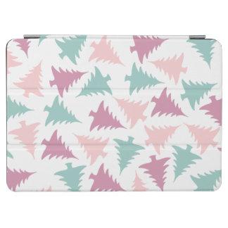 Protection iPad Air Vert pourpre de rose en pastel de motif d'arbre de