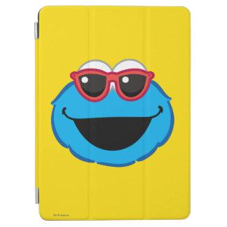 Protection iPad Air Visage de sourire de biscuit avec des lunettes de