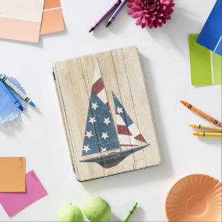 Protection iPad Air Voilier avec le drapeau américain