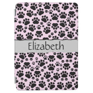 Protection iPad Air Votre nom - pattes de chien, traces, empreintes de