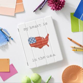 Protection iPad | americana mon coeur est dans la carte des