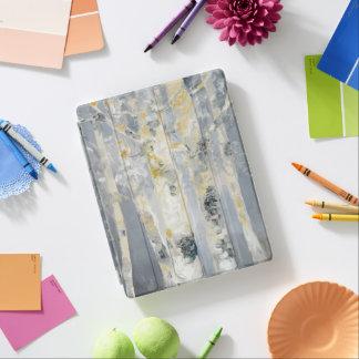 Protection iPad Arbres de bouleau sur l'arrière - plan gris 6