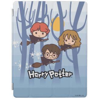 Protection iPad Bande dessinée Harry, Ron, et vol de Hermione en