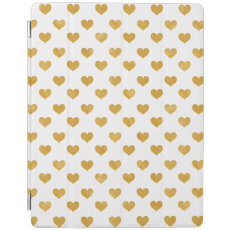 Protection iPad Blanc de l'amour 2018 - coeur d'or