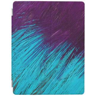 Protection iPad Bleu un abrégé sur pourpre plume