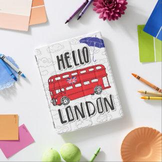 Protection iPad Bonjour signe en lettres de main de Londres | avec