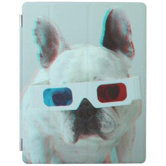 Protection iPad Bouledogue français avec les verres 3D