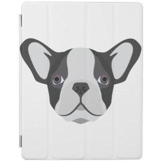 Protection iPad Bouledogue français mignon d'illustration