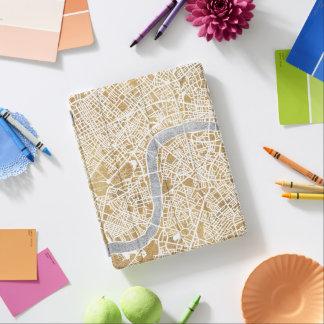 Protection iPad Carte dorée de ville de Londres