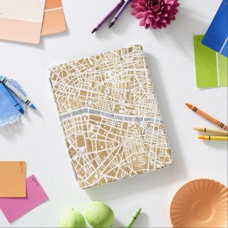 Protection iPad Carte dorée de ville de Paris
