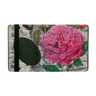 Protection iPad carte rose de papillon de cru