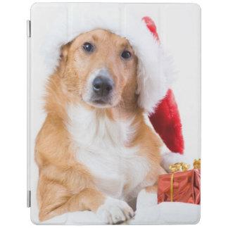 Protection iPad Chien de Noël avec l'andouiller et les cadeaux