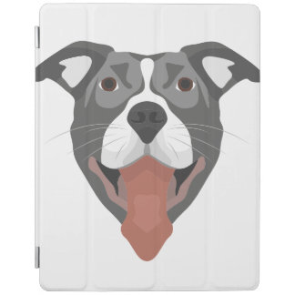 Protection iPad Chien Pitbull de sourire d'illustration