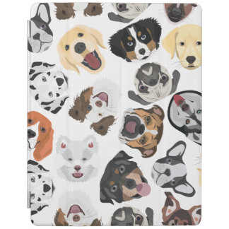 Protection iPad Chiens de motif d'illustration