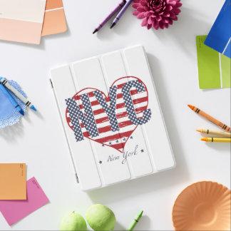 Protection iPad Coeur de drapeau américain de NYC