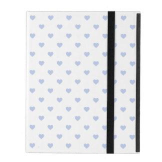 Protection iPad Coeurs bleus de polka d'Alice dans le jardin