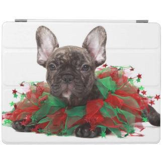Protection iPad Collier de port de Noël de bouledogue français
