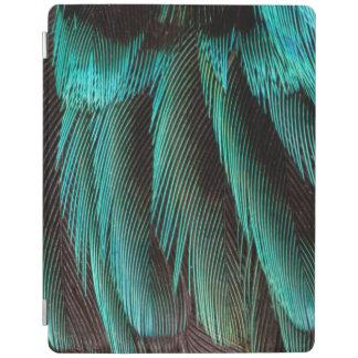 Protection iPad Conception bleue et noire de plume