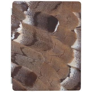 Protection iPad Conception de plume de Brown