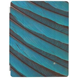 Protection iPad Conception de plume de rouleau Bleu-Gonflée par