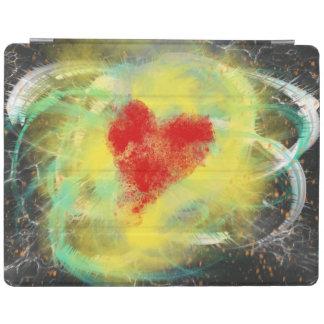 Protection iPad Conception rouge d'art abstrait de spirale de