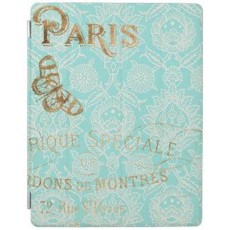 Protection iPad Conception vintage d'or de Paris