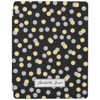 Protection iPad Confettis d'or et d'argent de Faux personnalisés