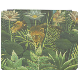 Protection iPad Copie tropicale d'art de lion de jungle de