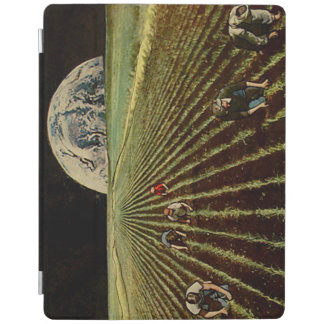 Protection iPad Couverture d'iPad de collage de Lunarscape