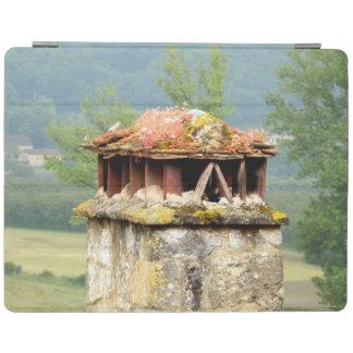 Protection iPad Couverture française antique d'iPad de cheminée
