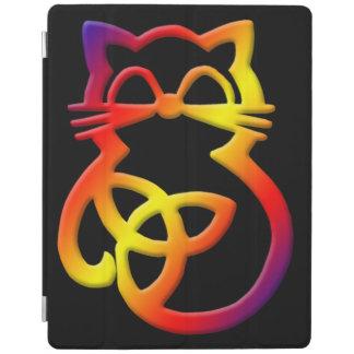Protection iPad Couverture intelligente d'iPad celtique de chat de